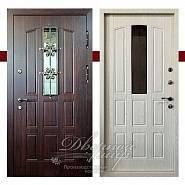 ЭЛИТ-ТЕРМО ДМ-721. Входная дверь в дом с терморазрывом, со стеклом и ковкой в производственной компании Дверной Мир
